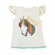 puseky Baby Girls Sister Matching Clothes Cartoon Unicorn Romper T-Shirt Tops