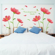 Wall Stickers Baby Nursery Flower Removable for DIV Self-adhesive for Girl's Room Decoration Multi-Style