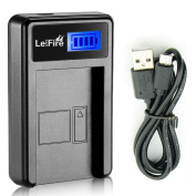 NB-11L LCD Slim USB Charger for Canon NB-11LH, NB11L and PowerShot SX410 IS, SX400 IS, ELPH 170 IS, 340 HS 320 HS 130HS 110 HS 1150 HS, A2300 IS A2400 IS, A2500 A2600 A3400 IS, A3500 IS, A4000
