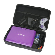 """for COOAU 11.5"""" Portable DVD Player with 24cm Swivel Screen EVA Hard Case Carrying Travel Bag by Khanka"""