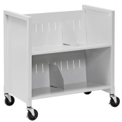 Buddy Products Double-Sided Book Cart