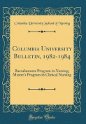Columbia University Bulletin, 1982-1984