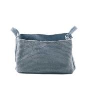 Yuyu Amsterdam Rectangular Jute Basket Stone Blue