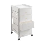 Metaltex Basel Multi-Purpose Cart with Four Storage Baskets, Metal, Silver, 35 x 41 x 72 cm