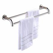 GGHYYO Towel shelf shower room kitchen Wall-Mounted Bar Towel Rail Shelf Single Layer Wall Mounted 60cm