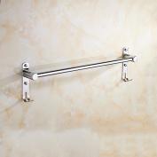 GGHYYO Towel shelf shower room kitchen Wall-Mounted Bar Towel Rail Shelf Single Bar Lengthened Punch 40cm