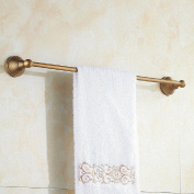 GGHYYO Towel shelf shower room kitchen Wall-Mounted Bar Towel Rail Shelf Single Layer 50cm