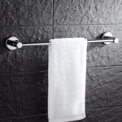 GGHYYO Towel shelf shower room kitchen Wall-Mounted Bar Towel Rail Shelf Single Bar Punch 52cm