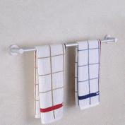 GGHYYO Towel shelf shower room kitchen Wall-Mounted Bar Towel Rail Shelf Plus Crude Single Bar 40cm