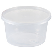 Nicole Home Collection Containers with Lids, Round, 470ml, Clear, 6 Ct