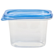 Nicole Home Collection Containers with Lids, Rectangular, 440ml, Clear, 5 Ct