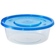 Nicole Home Collection Containers with Lids, Round, 650ml, Clear, 4 Ct