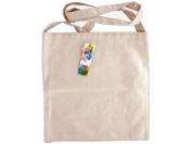Ken Oliver 100% Cotton Canvas Messenger Bag W/Strap