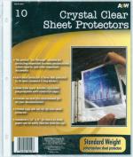 Page Protectors 23cm x 29cm 10/pkg-clear