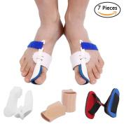 Bunion Corrector Bunion Relief Protector Sleeves Kit, Big Toe Corrector Straightener Separator Treat Pain in Hallux Valgus, Big Toe Joint, Hammer Toe, Splint Aid Surgery Treatment
