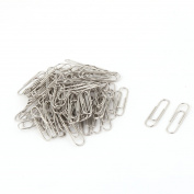 Unique Bargains 100 Pcs Silver Tone Paper Clip Bookmark Office Home Stationery