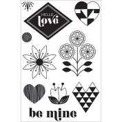 Hero Arts Basic Grey J'Adore Clear Stamps, Hello Love