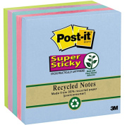 3M 6545SST Super Sticky Notes 3 x 3 Five Tropical Colors Five 90-Sheet Pads Pack
