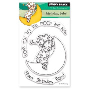 Penny Black Birthday Baby Clear Unmounted Rubber Stamp Set