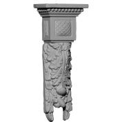 Ekena Millwork Hampshire 24cm H x 10cm W x 5.4cm D Medium Drop Corbel