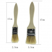 2x Chytaii Pastry Brush Basting BrushBaking Cooking BBQ Basting Brush Natural Bristle and Wooden Handle