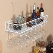 Wall Mounted Metal Wine Rack,European Iron Wine Glass Hanging Rack & Holder Shelf for Kitchen/ Bar / Restaurant