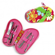 7 pcs slippers shaped Nail Art Manicure Set Nail Care Tools with Mini Finger Nail Cutter Clipper File Scissor Tweezers