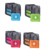Tikwisdom 4 PCS Big Handy Bag ortable waterproof nylon folding travel bag storage bag