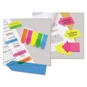 Redi-Tag 21095 SeeNotes Transparent Film Arrow Flags Neon Pink/Yellow 60 Flags/Pad 2 Pads/Pk