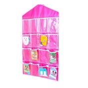 RainBabe Polyester Wall Hanging Storage Bag Home Organiser for Door Bedroom kitchen 16 Pockets