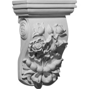 Ekena Millwork Flower 31cm H x 20cm W x 11cm D Corbel