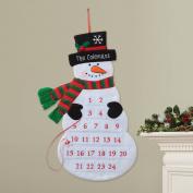 Personalised Snowman Christmas Advent Calendar