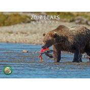 Bears Wall Calendar, 2017 Bears by Silver Creek Press