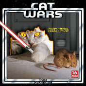 2018 Cat Wars Wall Calendar, Funny Cats by Sellers Publishing