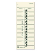 Time Card for Acroprint, IBM, Lathem and Simplex, Weekly, 3 1/2 x 9, 500/Box
