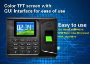 Ktaxon Realand A-E260 7.1cm Biometric Fingerprint Time Clock Attendance Machine Employee Cheque