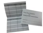 5 Debit ATM Mini Chequebook Registers