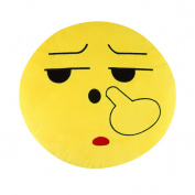 Yellow 1pc Pretty Soft Emoticon Round Cushion Pillow Stuffed Plush Toy Doll Pillow OF 15~~^
