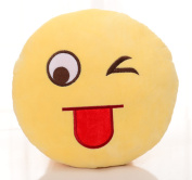 BH Toys Emoji Plush Expression Pillow - Naughty Face