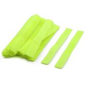 Self Adhesive Wire Marker Strap Ties Hook Loop Tape Light Green 17cm Long 50pcs