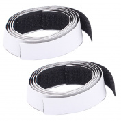 Self Adhesive Back Hook Loop Fastening Magic Tape Strip 50cm 0.5m Length 2PCS