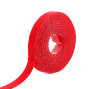 Outdoor Office Sticky Back Tape Fabric Self Adhesive Hook and Loop Fastener Red