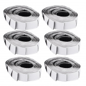 Self Adhesive Back Hook Loop Fastening Magic Tape Strip 50cm Long Black 6PCS