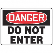 """Danger Sign, Accuform Signs, MADM139VA, 25cm Hx 14""""W"""