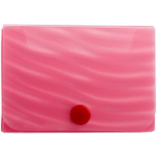 JAM Paper Plastic Business Card Case, Pink Wave, Sold Individually