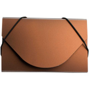 JAM Paper Plastic Business Card Case, Metallic Copper, Sold Individually