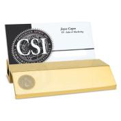 Cal State Fullerton Gold Business Card Holder