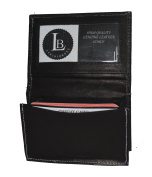 Business Card Holder with Contrasting White Sewn - High End by Leatherboss