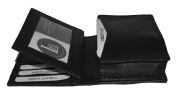 Credit Card and Business Card Holder with Extra Flap and Expandable Pocket