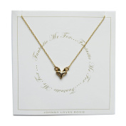 Johnny Loves Rosie Fox Gift Card Women Chain Necklace of Length 48cm 5055632017990